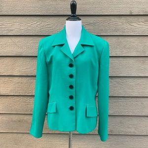 Christian Dior Vintage Green Classic Blazer 12